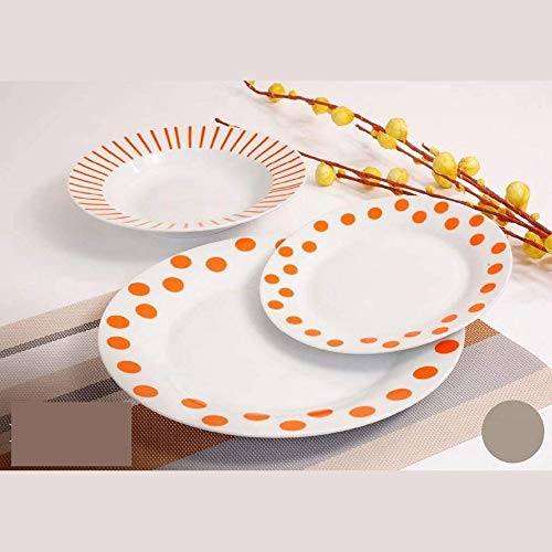 Argenti Preziosi Offerta Servizio Piatti Moderni da tavola Colorati in Ceramica di Design Completo per 6 Persone da 18 Pezzi: 6 Piatti Fondi, 6 Piatti Piani, 6 Piatti Frutta (TA5009645)