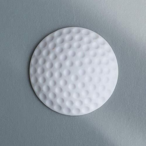 3 kleuren 1 stuks. Golf Moding Rubber spatbordslot, verdikking mute, deurendeur, beschermmat, shakeproof en ruisreductie, wit, Russische opvoer