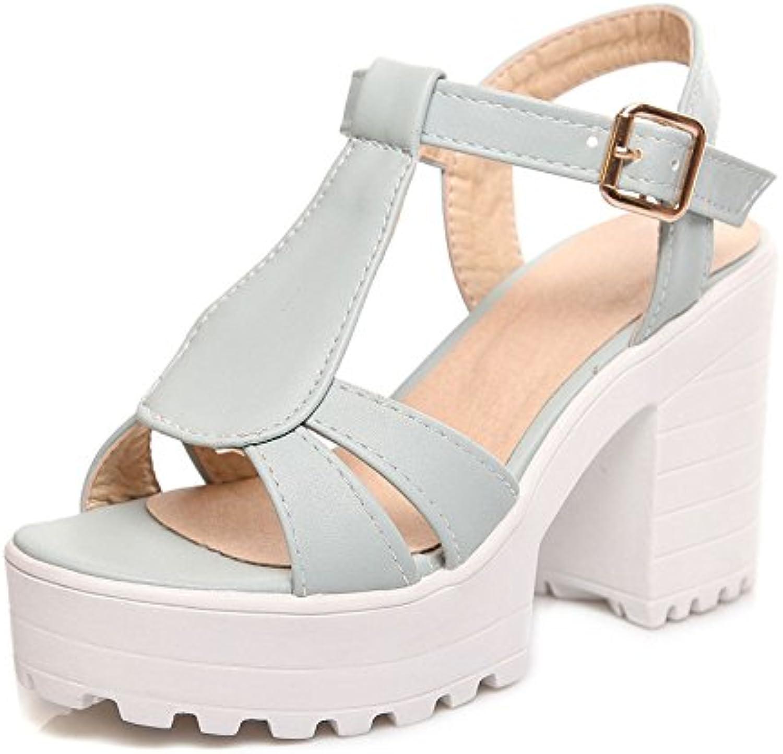 Dahanyi Stylish PU Leather Sandals Women Summer shoes Elegant T-Strap Woman Platform Sandals High Heels Party Dress Sandals