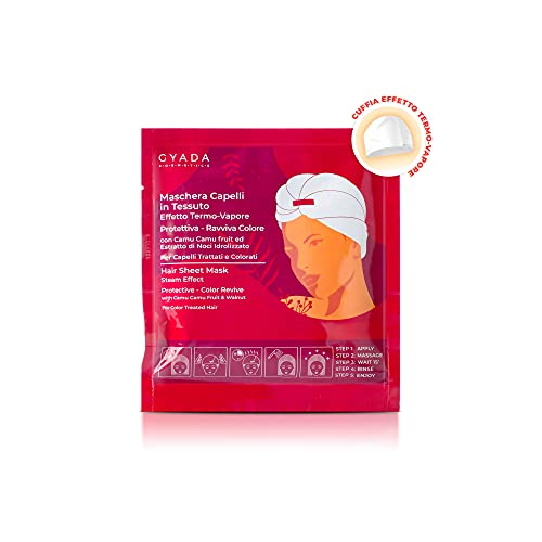 GYADA COSMETICS Maschera Capelli in Tessuto - Protettiva e Ravviva Colore - 60 ml