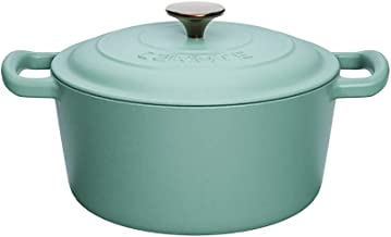 Ceramic Pot Sauce Pan Saucepan with Lid Small Multipurpose Use Cooking Pot for Home Kitchen Even Heating Base (Color : Blue)