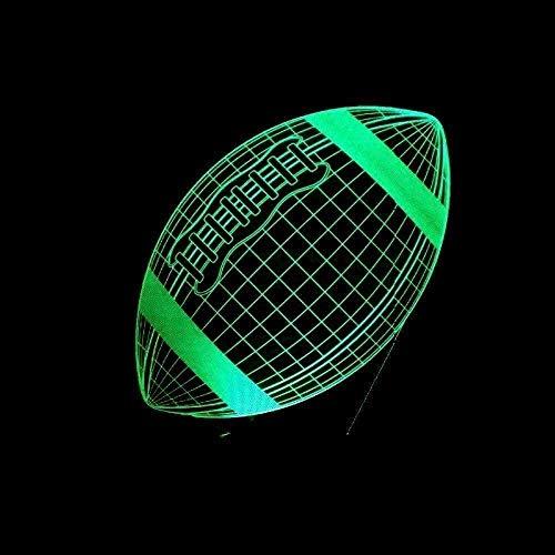 3D Illusion Lamp 3D Nachtlicht LED Illusionslampe 16 Farben und Fernbedienung Optische 3D Illusionslampen mit Acryl-Flach- und ABS-Sockel und USB-Kabel zum Weihnachtsgeburtstag-N10-N11