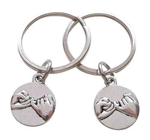 JewelryEveryday - Llaveros de compromiso doble Pinky Promise para pareja, regalo de promesa