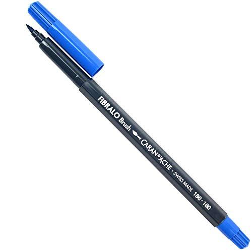 Caran d'Ache Fibralo Brush Pen, Fine Point, Cobalt Blue (186.160)