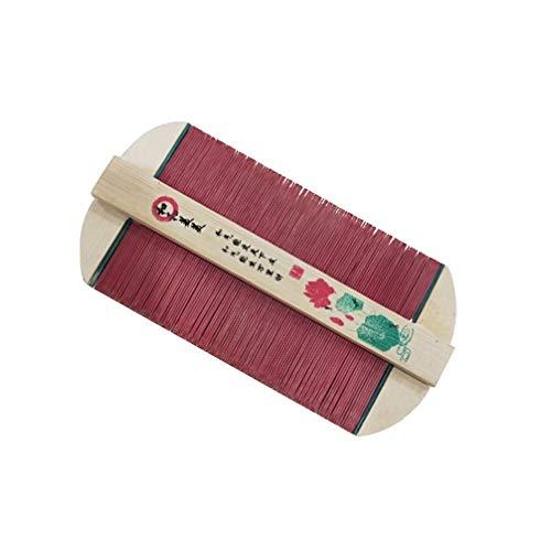 Artibetter 2 Pcs en Bois Tête Poux Peigne Bambou Dents Denses Double Face Peignes Poux Passoire Tête Massage Peigne pour Femmes Filles Enfant