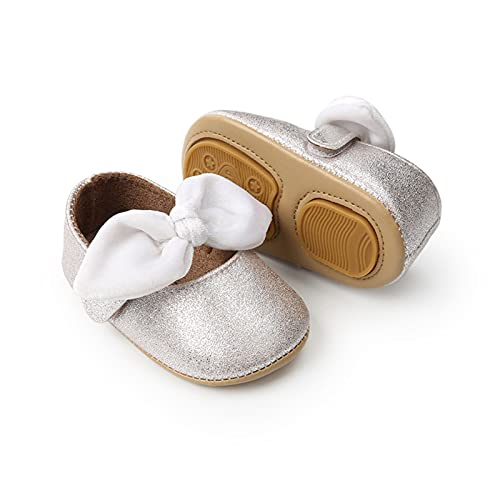 KGDC Fashion Causal Toddler Bébé Filles Billard Chaussures bébé Bowknot PU Chaussures Soft Soft Princess Chaussures (Baby Age : 13-18 Months(13cm), Color : White)
