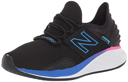 New Balance Women's Fresh Foam Roav V1 Sneaker, Black/Vivid Cobalt, 7 M US