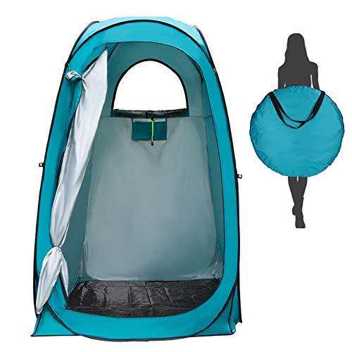 Yuanj Camping Duschzelt, Pop Up Toilettenzelt Wasserdicht Umkleidezelt, Outdoor Privat Mobile WC Zelt für Camping & Beach, mit Tragetasche, 210 * 120 * 120 cm