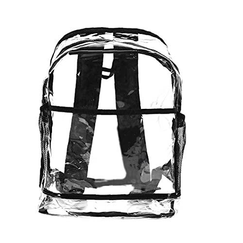 Zaino in PVC trasparente 1pc e imbottitura regolabile Piccolo zaino (trasparente)