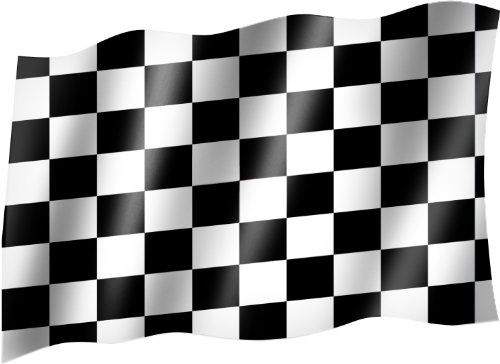 Unbekannt Flagge/Fahne ZIELFLAGGE/AUTORENNEN/Start Ziel/RENNEN Hissflagge mit Ösen 150x90 cm, sehr Gute Qualität