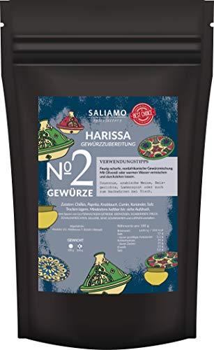 Harissa Gewürzmischung, zur herstellung von Harissa Paste, nordafrikanische Spezialität, auch zum würzen von Fleisch, Geflügel, Steaks, Lamm und Gemüse | Saliamo (250g)