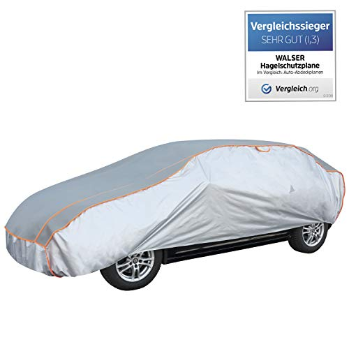 Walser Auto Hagelschutzplane Perma Protect PKW wasserdichte atmungsaktive Hagelschutzgarage für optimalen Hagelschutz, Größe: M 30974