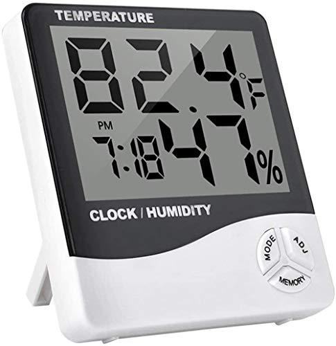 BIGMALL Multifunktions-LCD-Innenraum LCD Elektronisches Temperatur-Feuchtigkeitsmessgerät Digitales Thermometer Hygrometer Wetterstation Wecker