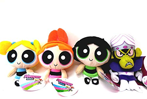 Powerpuff Girls Blossom, Bubbles, Buttercup and MoJo JoJo 4 Plush Doll Jumbo 14 inches