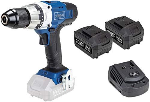 SCHEPPACH CDD45-20 | Akkuschrauber | 20 Volt | Bohrmaschine | 45 Nm Drehmoment | LED Arbeitslicht | Inkl. 2x 4 Ah Akku und Ladegerät
