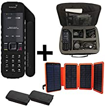 SatPhoneStore Inmarsat IsatPhone 2.1 Satellite Phone Traveler`s Package with Travel Bag, Solar Charger, Extra Battery and Blank Prepaid SIM Card Ready for Easy Online Activation