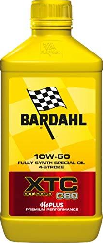Bardahl XTC C60 off Road 10W50 - Olio per Motori 4T di Moto con Cambio Integrato e Frizione a Bagno d'Olio, 1 Litro
