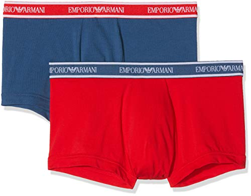 Emporio Armani Underwear 9p717 Costume da Bagno, Multicolore (Cobalto/Rosso 25633), Medium Uomo