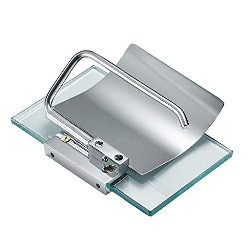 Elevin(TM) Hotel Bathroom Paper Towel Holder Copper Tempered Glass Toilet Paper Holder