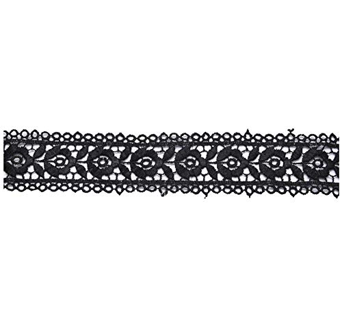 """Kalagiri Cotton Embroidery Laces and Borders Material for Suits, Saree and Dupatta, Trims, Fabric Lace, Sewing Supplies(10 Meter Pack of 2)(Width - 1.5"""" Inches Approx) Desgin #2"""
