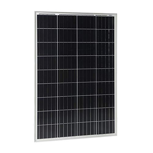 BigButterflyde Polykristallines SolarModul Hohe Effizienz 100W 12V SolarPanel Poly Solarzelle Photovoltaik für Wohnmobil Gartenhäuse Boot