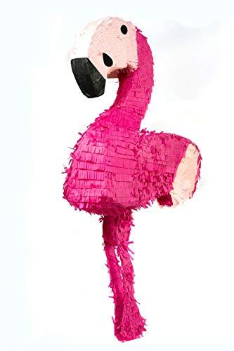 Trendario Flamingo Pinata - 78 x 39 cm groß in Rosa / Pink - ungefüllt - Ideal zum Befüllen mit Süßigkeiten und Geschenken - Piñata für Kinder Geburtstag Spiel, Geschenkidee, Party, Hochzeit