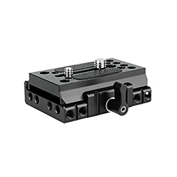 NICEYRIG Quick Release Base with Plate Applicable Camera DSLR 15mm Rail Support System Compatible with Manfrotto 577 501 504 701