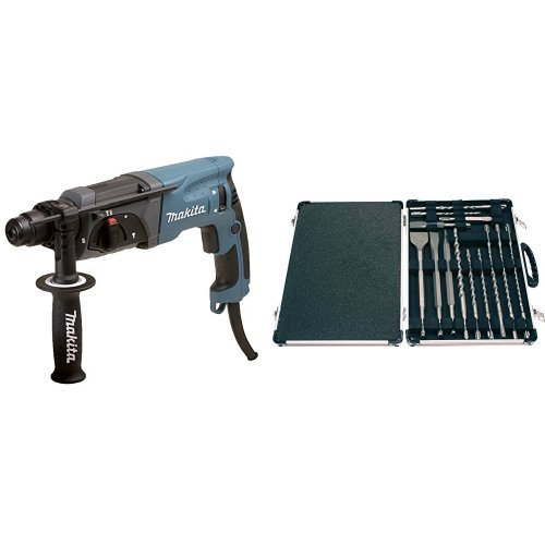 Makita HR2470 - Martillo perforador + SDS Plus - Kit de bs y cinceles (17 piezas)