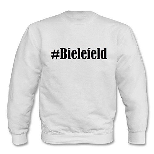 Reifen-Markt Sweatshirt #Bielefeld Größe 2XL Farbe Weiss Druck Schwarz