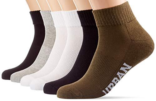 Urban Classics Unisex High Sneaker 6-Pack Socken, Black/White/Grey/Olive, 39-42