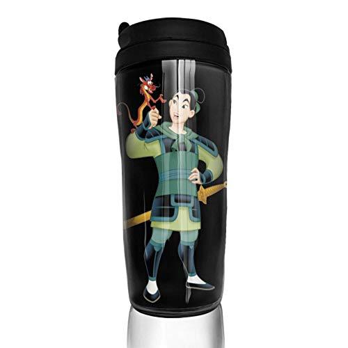 Lawenp Vakuumisolierte Kaffeetasse mit Klappdeckel, doppelwandigem Wasser Vorsicht Mul_An 'S Kaffeetasse für Heim-, Büro- und Außenarbeiten