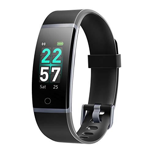 Letsfit Fitness Tracker HR, Aktivitätstracker mit Schrittzähler, IP68 wasserdicht, Schrittzähler mit Kalorienzähler, Schlafmonitor, Smart-Fitnessband für Männer, Frauen, Kinder