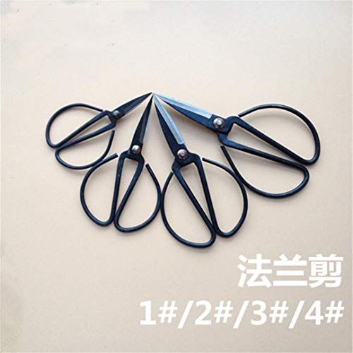 Why Choose Forged Carbon Steel Scissors Handmade Vintage Scissor Black Coated Household Gardening Tr...