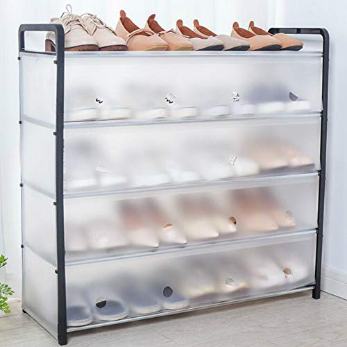 5 Niveles Zapato De Almacenamiento De Zapatos, Estantería Organizador Soporte De Soporte para 15 Pares De Zapatos, Fácil De Montar El Estante De La Torre De Zapatos Multifuncional