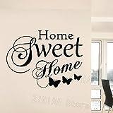 yaonuli Etiqueta de la Pared de Vinilo Sweet Home Word Tatuajes de Pared Sala de Estar Decoración Dormitorio Mural 42X43cm
