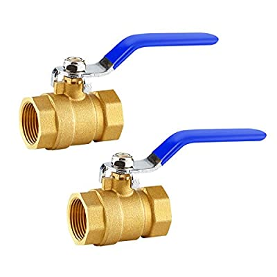 """TWOZOZO Brass Ball Valve, 3/4"""" Lead-Free Brass Valve 2PCS Female Threaded BSPT Connector for Water, Oil, and Gas by TWOZOZO"""