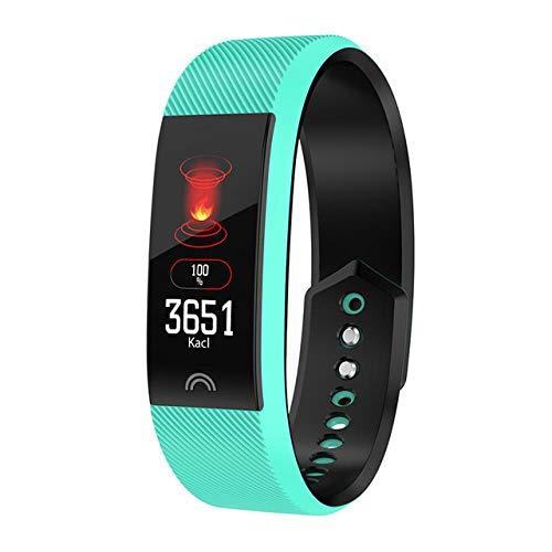 Oyznsb Smartwatch armband voor mannen vrouwen en meisjes sport tracker fitness IP68 waterdicht, Groen