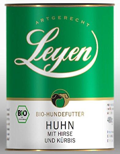 Leyen Artgerecht Bio Hundefutter Bio-Huhn mit Hirse und Kürbis 400 g 12er Paket (12 x 400 g)