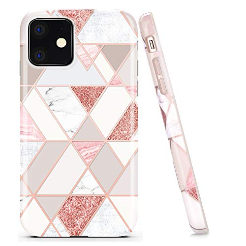 Doujiazdoujiaz Iphone 11 Case Bling Glitter Sparkle Marble Design Clear Bumper Glossy Tpu Soft Rubber Silicone Cover Phone Case For Iphone 11 6 1 2019 Rose Gold Grid Dailymail
