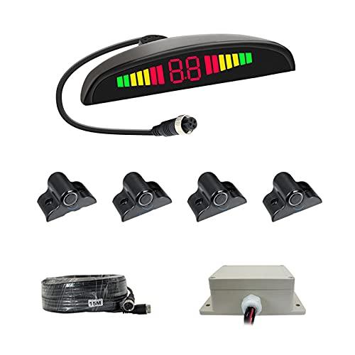YUYAN Radar de la carretilla elevadora LED Digital Display Todo-en-Uno Host Sin Perforación Instalación Sonda Camión Radar Invertir Fácil de instalar