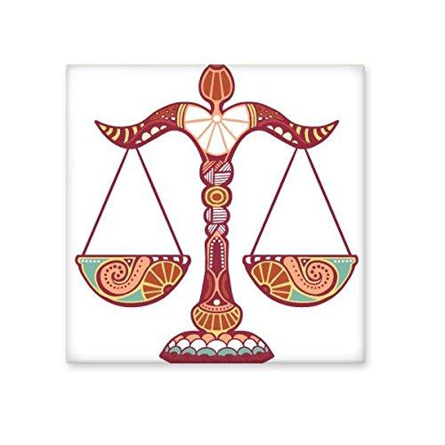 Teken Weegschaal Constellatie Zodiac Symbool Mark Illustratie Patroon Keramische Bisque Tegels voor het verfraaien Badkamer Decor Keuken Keramische Tegels Wandtegels S