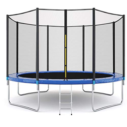 MilkSugar 12 FT Kids Trampoline with Enclosure Net Jumping Mat and Spring Cover Padding.US Stock,{5-12 Days delivery}