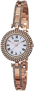Burgi Womens Round Mother of Pearl Dial Metal Bracelet Watch [BUR108RG]