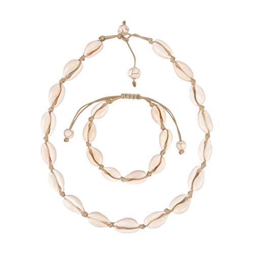 Believe London Shell Bracelet (Brown Necklace & Bracelet Set)