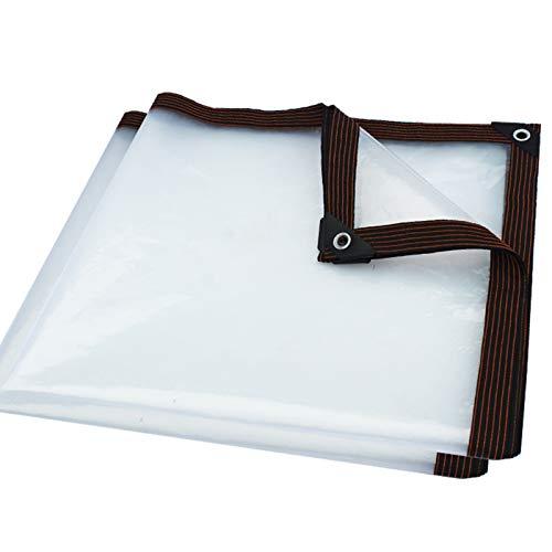 XJJUN Lona De Cubierta Impermeable Transparente, Cubierta De Lluvia Lona De Vidrio Tela De Vidrio Balcón Exterior PVC, con Perforaciones Se Puede Personalizar (Color : Claro, Size : 1.2x3m)