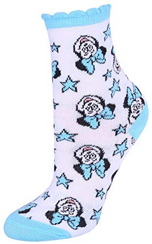 Calcetines blancos y azules decorados con estrellas Minnie Mouse DISNEY Blanco blanco 23/26 ES