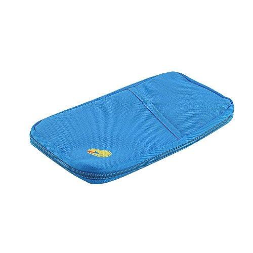 11colori resistente in Nylon impermeabile documento di viaggio Portafoglio blu Blue medium