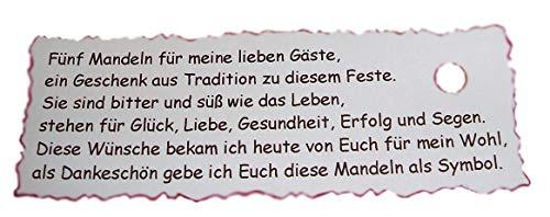 10 Spruchkärtchen Gastgeschenke Kommunion Taufe Hochzeit GG0076