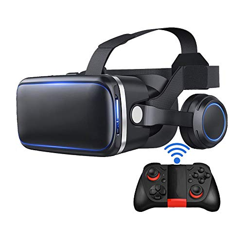 Great Features Of Virtual Reality VR Glasses with Remote Controlle for 4.7-6.0 Inch Smartphone Super...