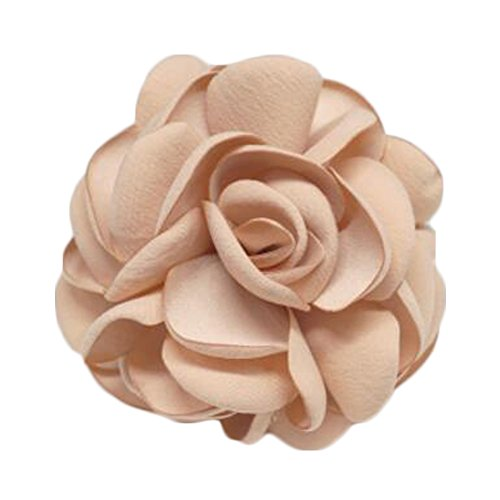 Elegant Flowers Brooch Sweater Cardigan Chest Flower Pin pour les dames, Champagne